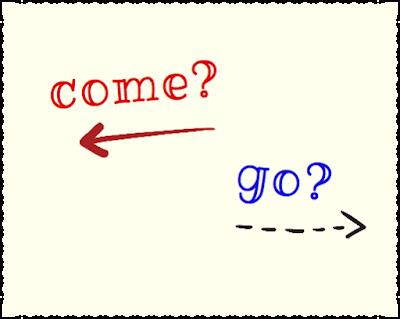 разница между come и go