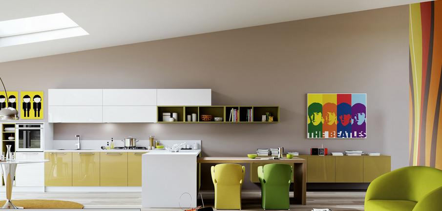 Dise o juvenil y pr ctico para cocinar y trabajar en casa for Disenos de cocinas para apartamentos pequenos