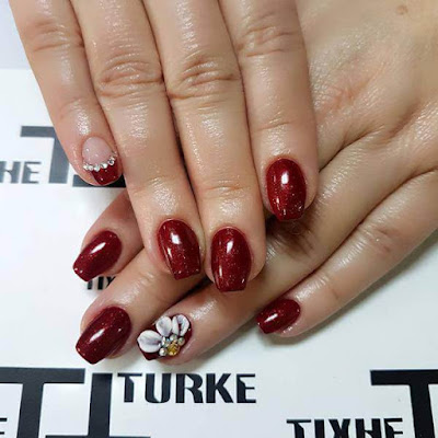 Halloween Red ,Mylar Nails Art Ideas
