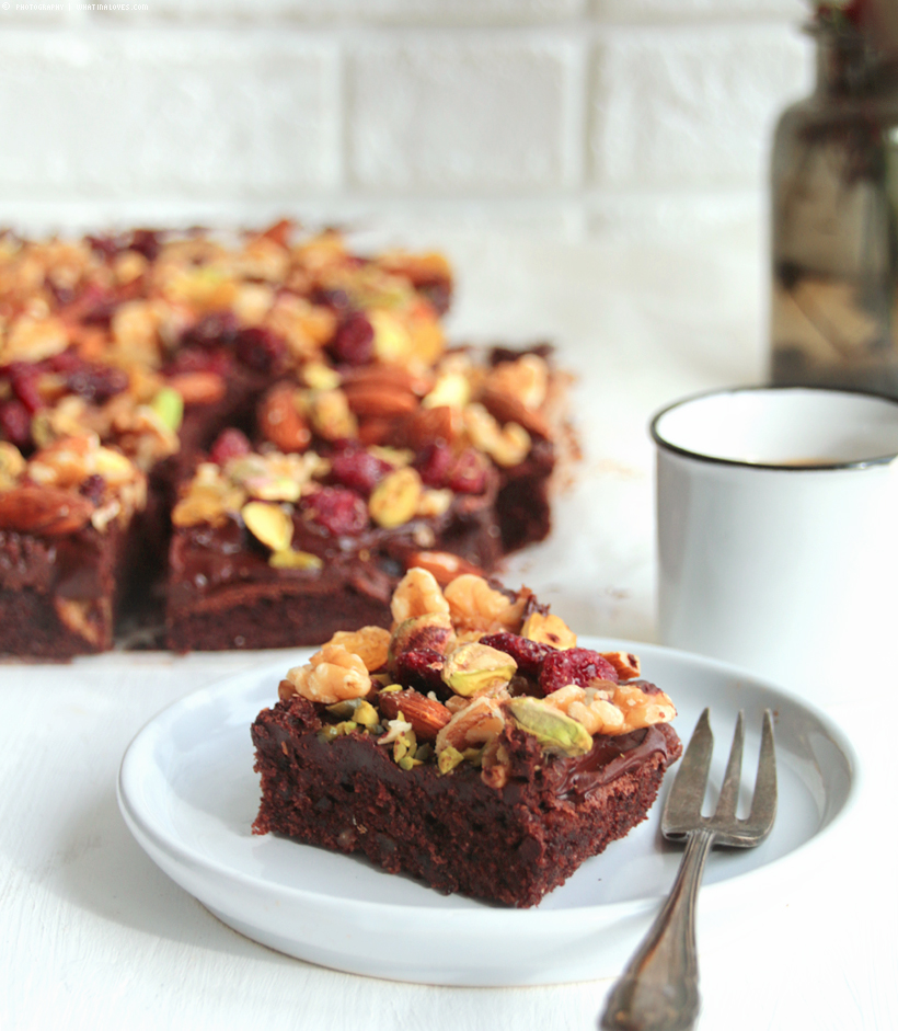 Brownieliebe whatinaloves.com | Triple Nut Brownies