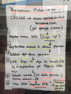 alur pendaftaran online apotek berkat bersama