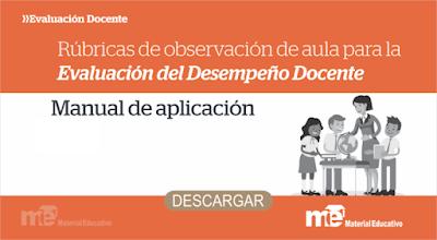 RUBRICAS DE OBSERVACIÓN DE AULA PARA LA EVALUACIÓN DEL DESEMPEÑO DOCENTE