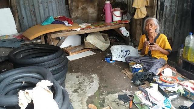 Suami Wafat 3 Tahun, Nenek 73 Tahun Ini Tegar Jalani Hidup Sebagai Tukang Tambal Ban