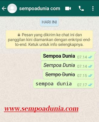 4 Cara Mengedit Tulisan di Whatsapp
