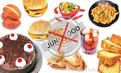 Avoiding junk foods for menstrual cramps