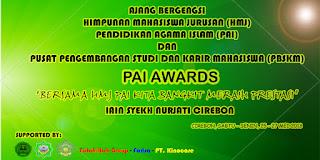 PAI Awards HMJ PAI dan PBSKM IAIN Syekh Nurjati Cirebon