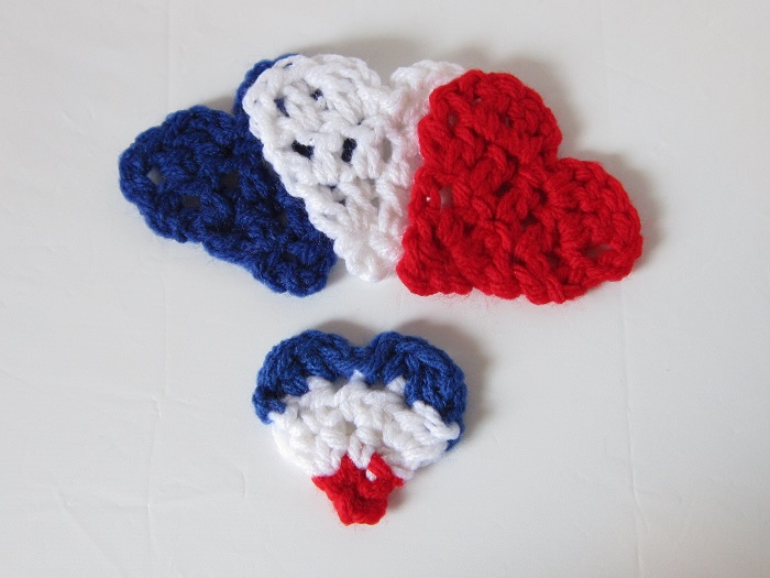 hearts, free crochet pattern, Paris, November 13th