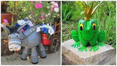 C mo hacer figuras de animales con botellas de pl stico for Maceteros de botellas