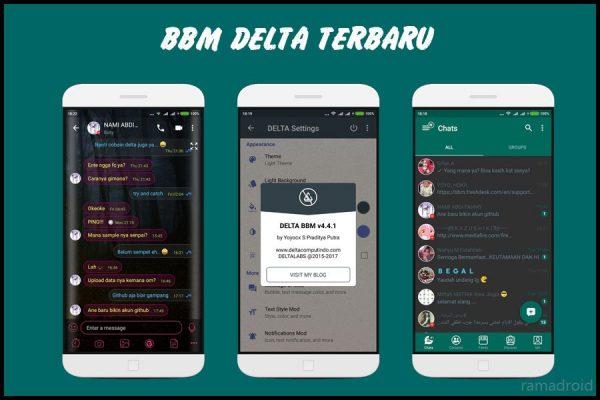 Download BBM Delta Mod Apk v4 Clone + Unclone Terbaru 2019