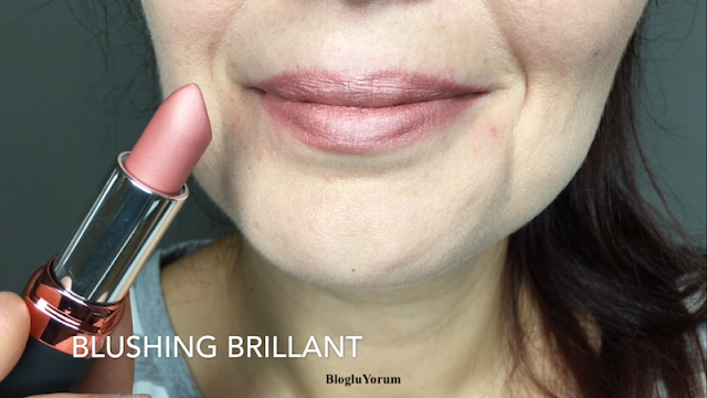Avon Velvet Luminosity Metalik Mat Ruj Blushing Brillant
