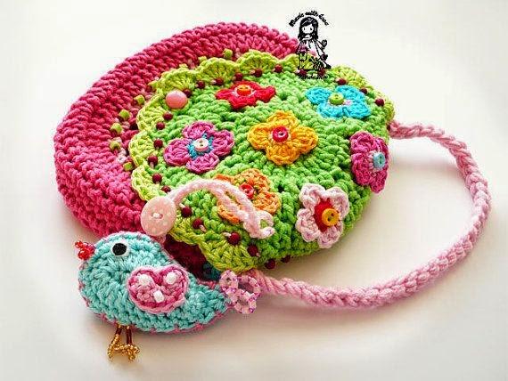 學習園地 Learning Zone: 小女孩鉤針手提袋作品欣賞製作及 Hello kitty 手提袋編織