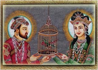 พระเจ้าชาห์ ชหานกับพระมเหสีมุมตัส มาฮาล