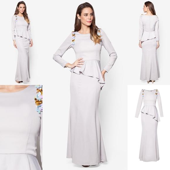 November 2016 Baju Kurung Moden Peplum Laila Grey By Vercato - Fesyen Trend Terkini