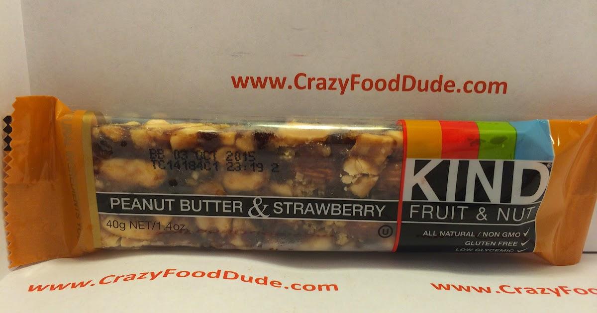 Crazy Food Dude Review KIND Peanut Butter amp Strawberry Fruit amp Nut Bar