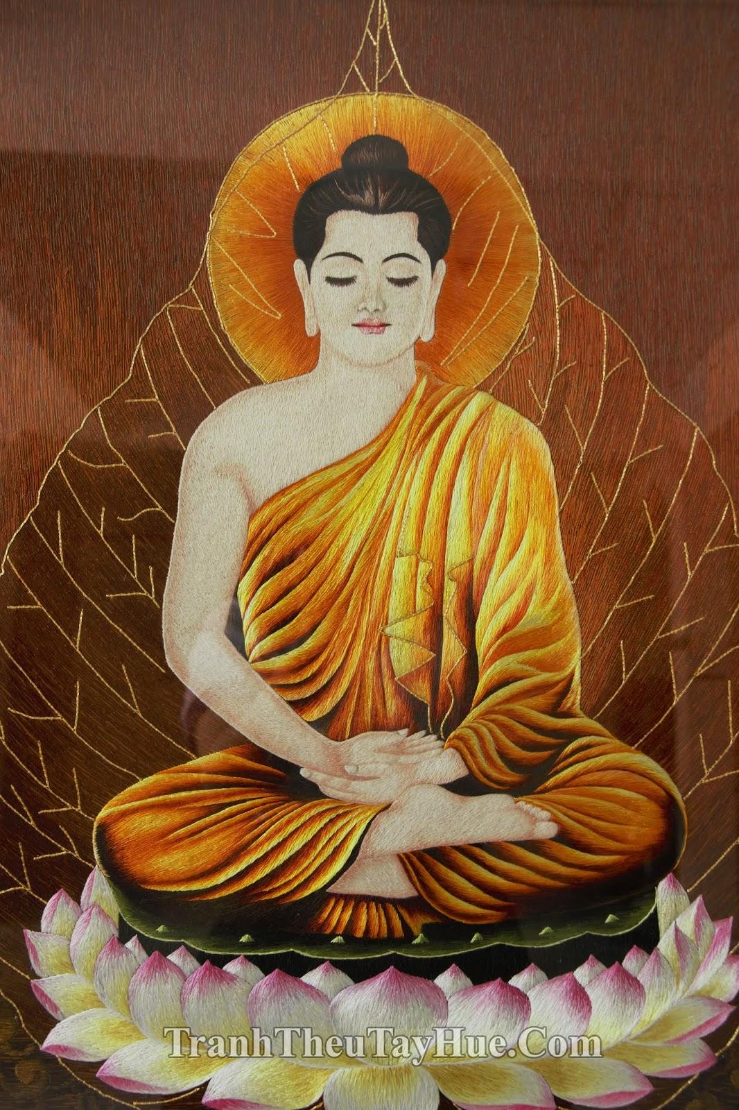 tranh thêu Đức Phật Thích Ca Mâu Ni