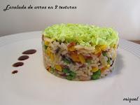 Ensalada de arroz en 2 texturas