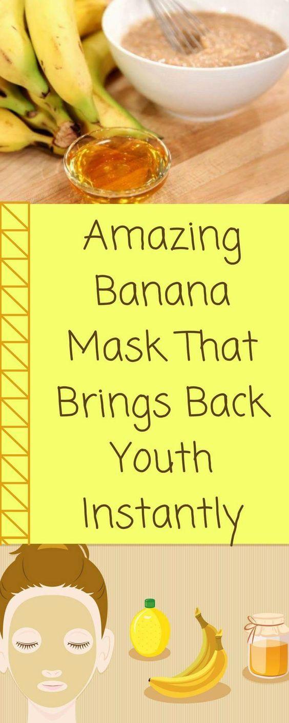 AMAZING BANANA MASK THAT BRINGS BACK YOUTH INSTANTLY