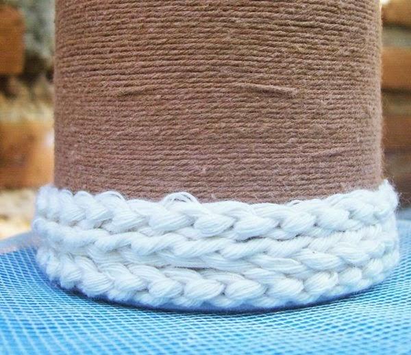 tutorial DIY Vas Bunga dari Kaleng Pringles