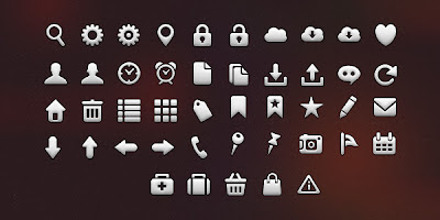 45 iOS Tab Bar Icons (PSD & PNG)