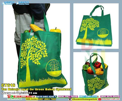 Tas Belanja Lipat Go Green Bahan Spunbond