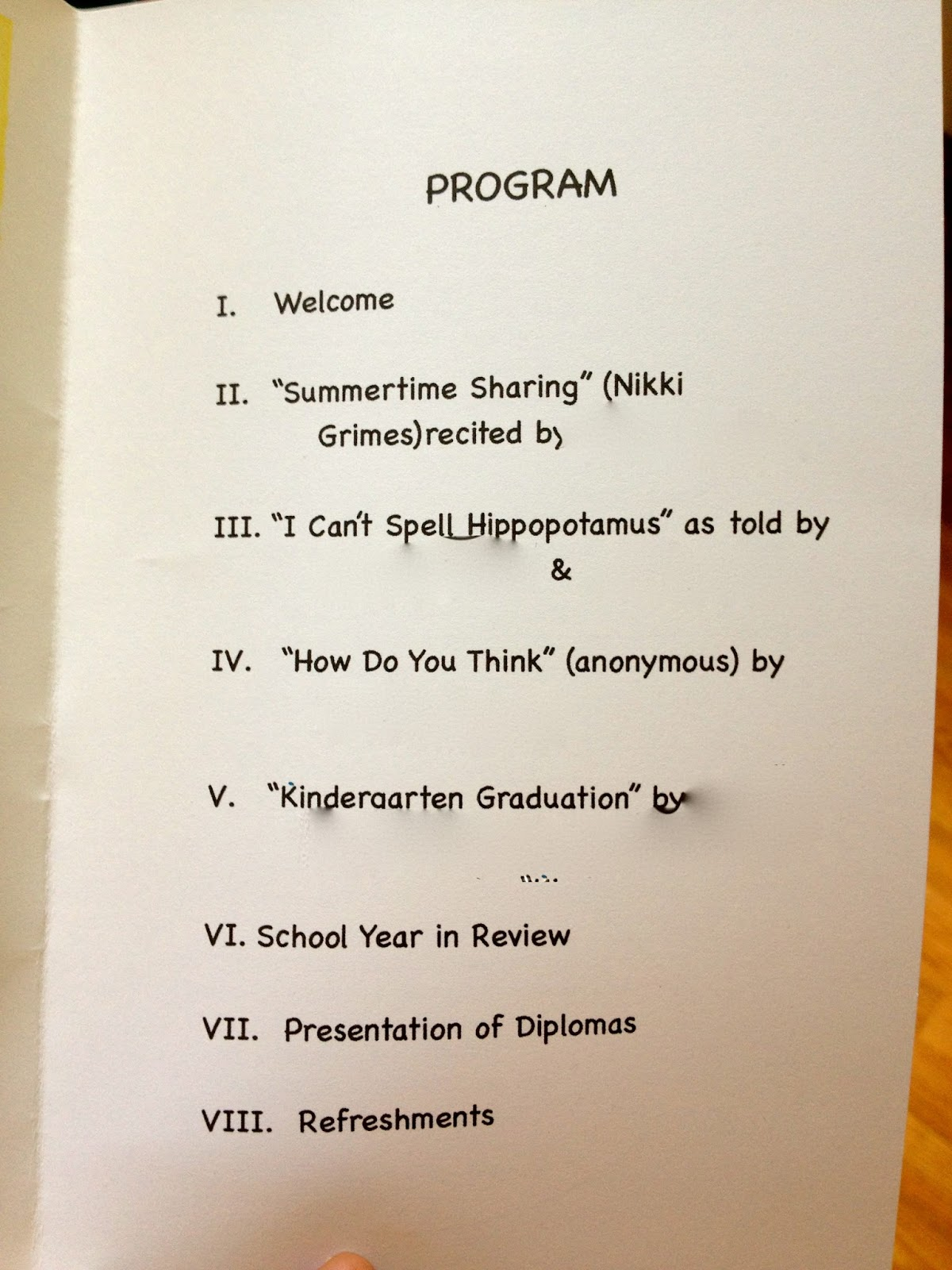 preschool graduation program template