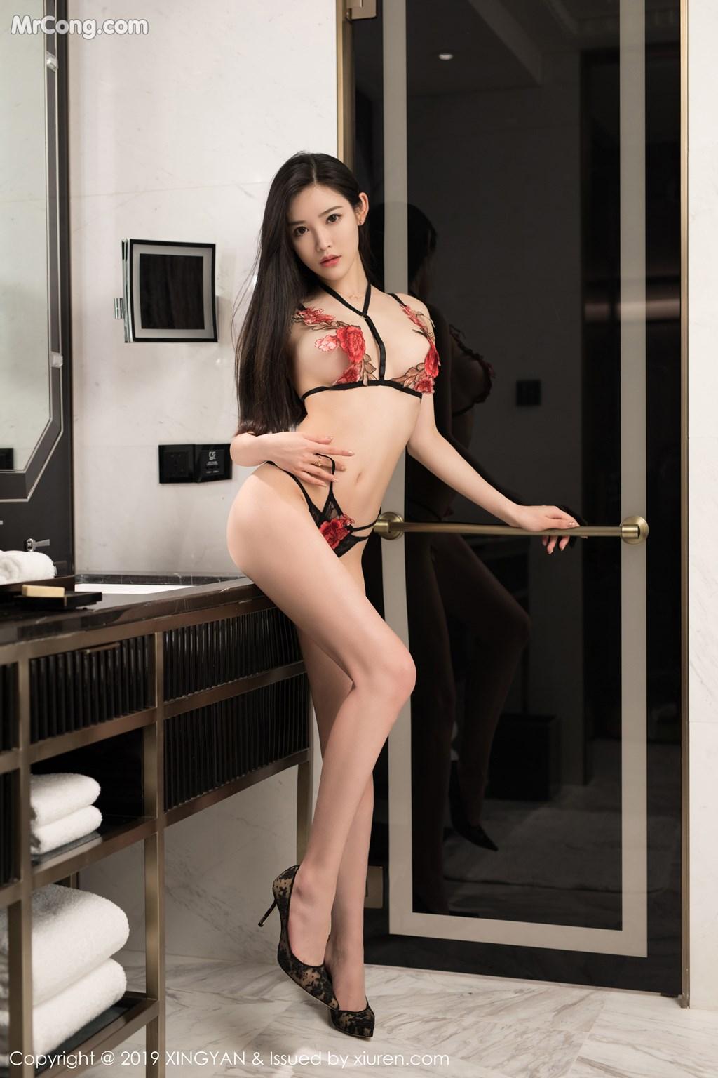 Image XingYan-Vol.121-He-Chen-Xi-MrCong.com-046 in post XingYan Vol.121: He Chen Xi (何晨曦) (49 ảnh)