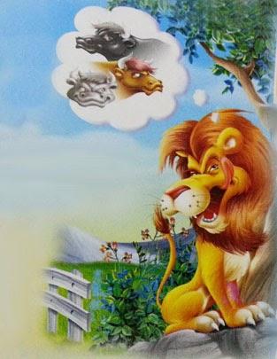 fabula el leon y los tres toros