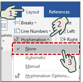 Mematikan Hyphenation Otomatis