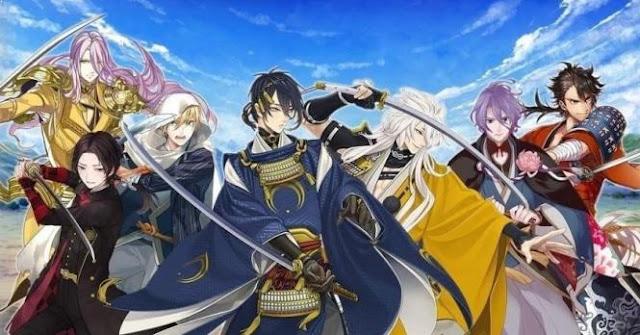 Katsugeki/Touken Ranbu - Daftar Anime Samurai Terbaik Sepanjang Masa