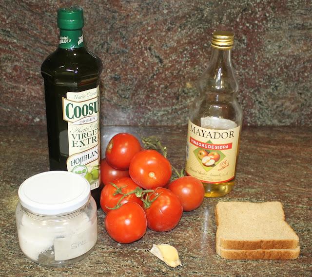 Ingredientes para el salmorejo