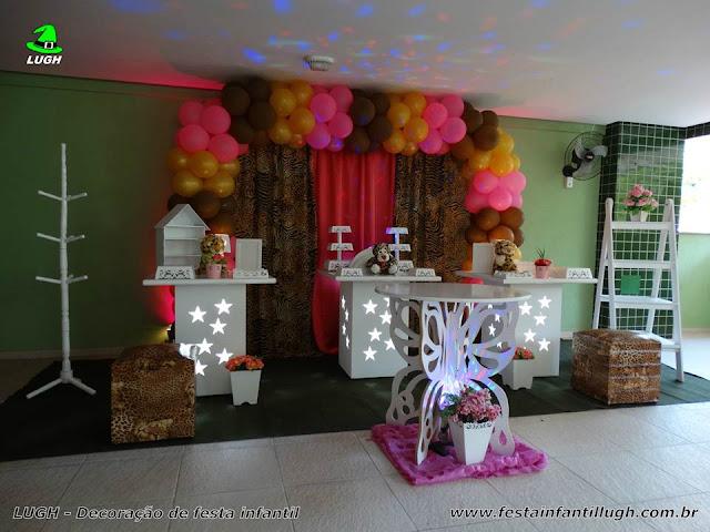 Mesa temática da Oncinha, Decoração de festa infantil, mesa decorada provençal simples