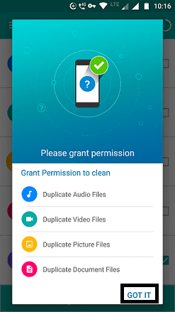 Grant permission to clean