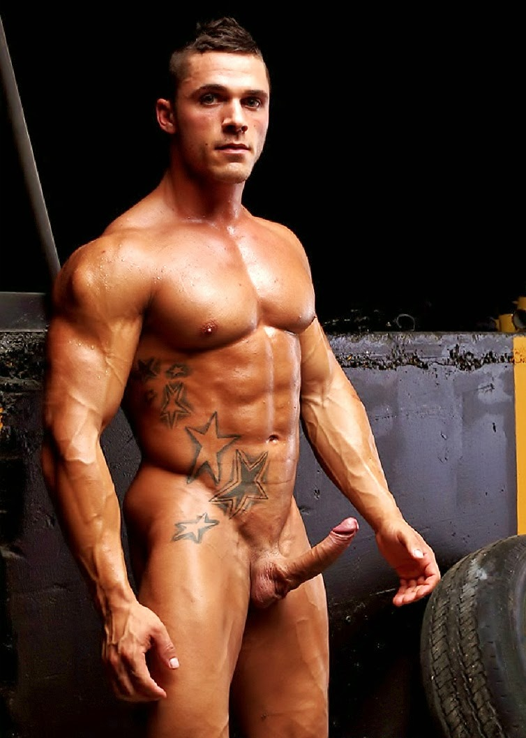 Body builder gay hot male muscle naked-8655