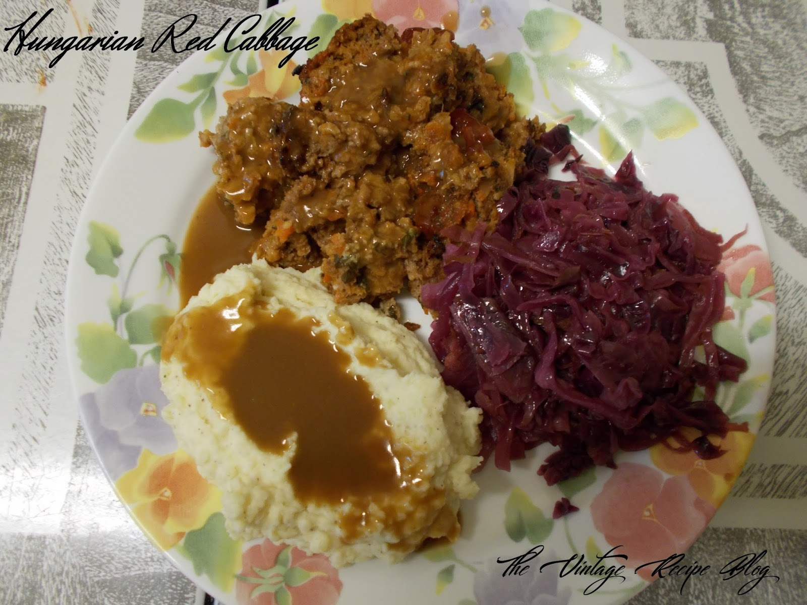 A Christmas Story Meatloaf Dinner Braised Sweet Sour Cabbage