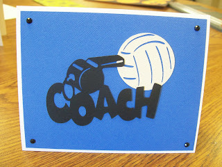 Volleyball Cricut Card Using Sports Mania Cartridge