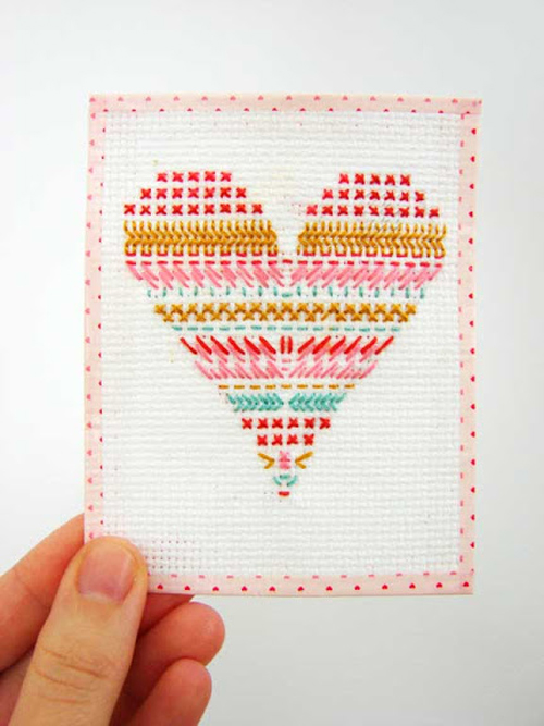 valentine10 Aesthetic Outburst Cross Stitch Multi Coloured Heart Inspiration
