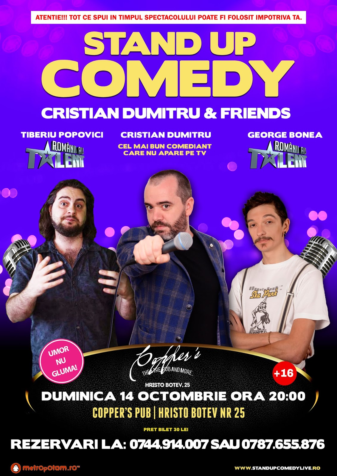 Stand-Up Comedy Duminica 14 Octombrie Bucuresti