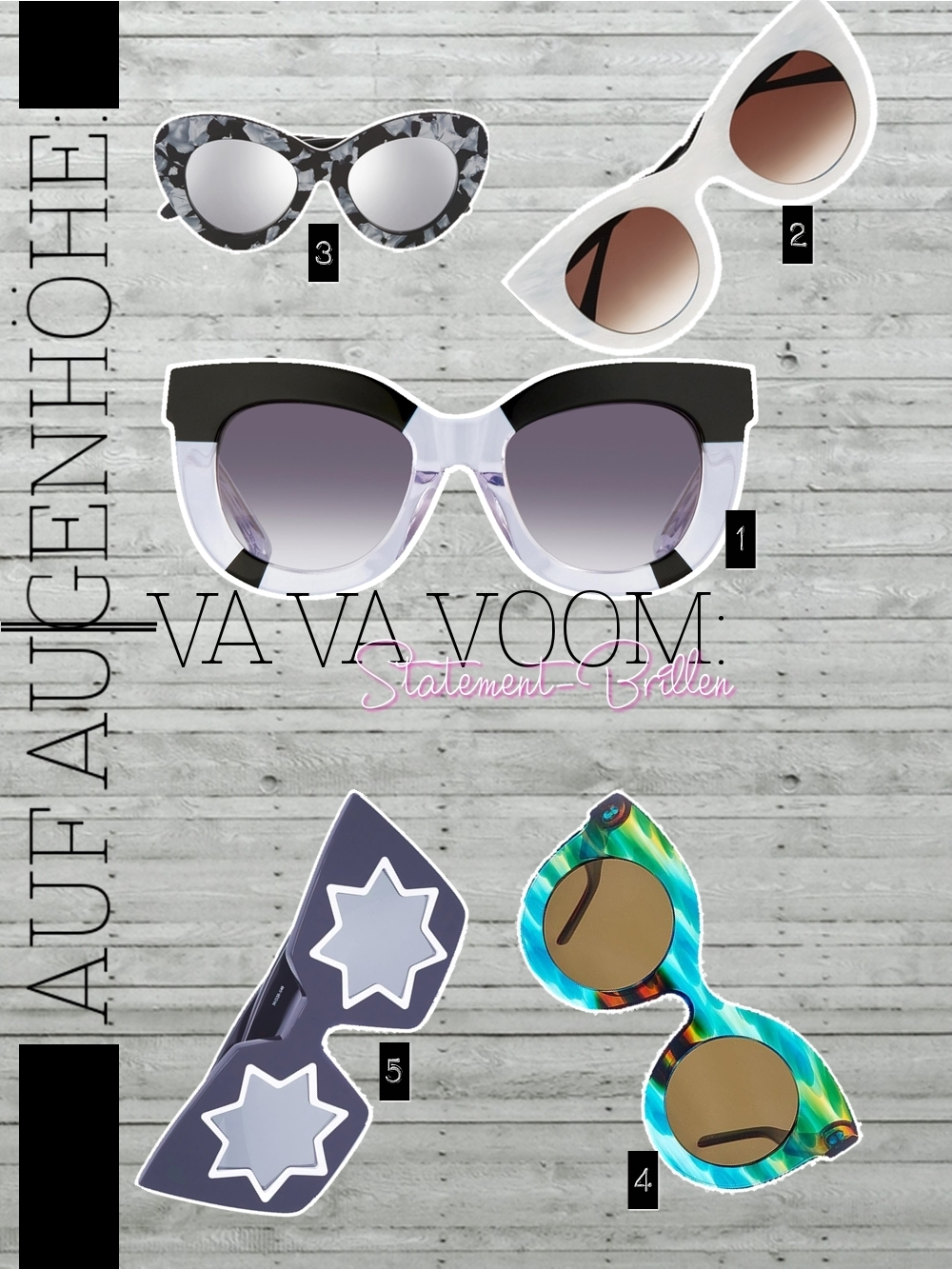 TREND REPORT: Power Glasses - Sunglasses SS16 Statement-sunglasses by fashion blogger  Annie K. - Annies Beauty House