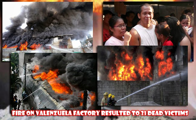 Fire on Valenzuela Factory Resulted to 31 Dead Victims