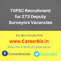 TSPSC Recruitment for 273 Deputy Surveyors Vacancies