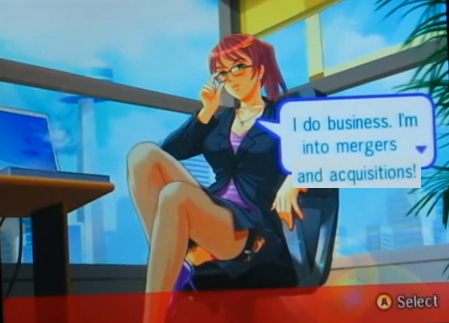Ryoko Sexy Poker WiiWare girl strip Gameloft business executive woman female fetish anime