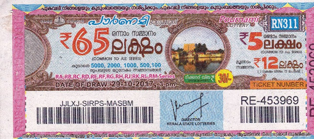 POURNAMI (RN-311) lottery ON OCTOBER 29, 2017