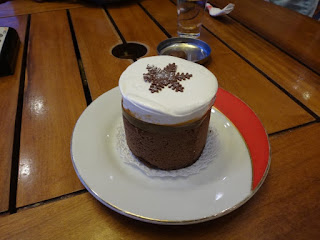 Sobremesa da chocolateria Mamuschka em Bariloche
