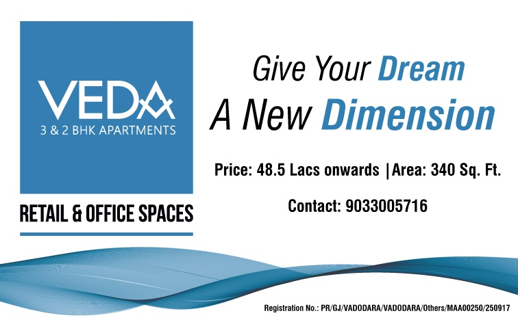 ALEMBIC REAL ESTATE VEDA APARTMENTS - 9033005716 2 BHK  3 BHK SHOP OFFICE