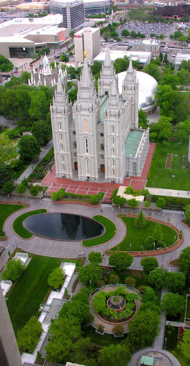 Salt Lake Temple and Tabernacle in Salt Lake City, Utah and 50+ Secret Places in America That Most Tourists Don't Know About