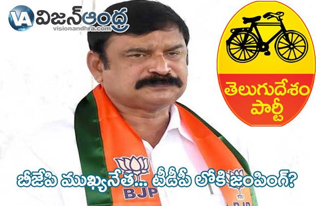 BJPs leader ,Vishnu Kumar raju, jumping TDP