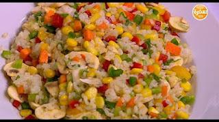 طريقة عمل سلطة الأرز الملونة مع سالي فؤاد في حلو وحادق