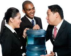 cool people next to the water cooler