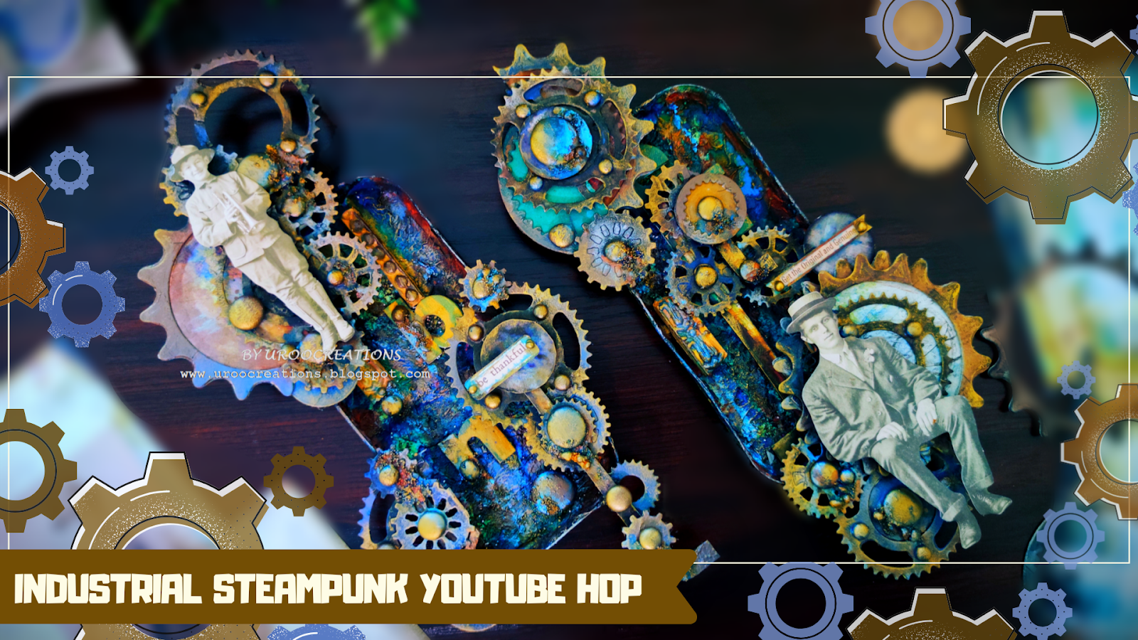 MIXED MEDIA WALL ART - STEAMPUNK