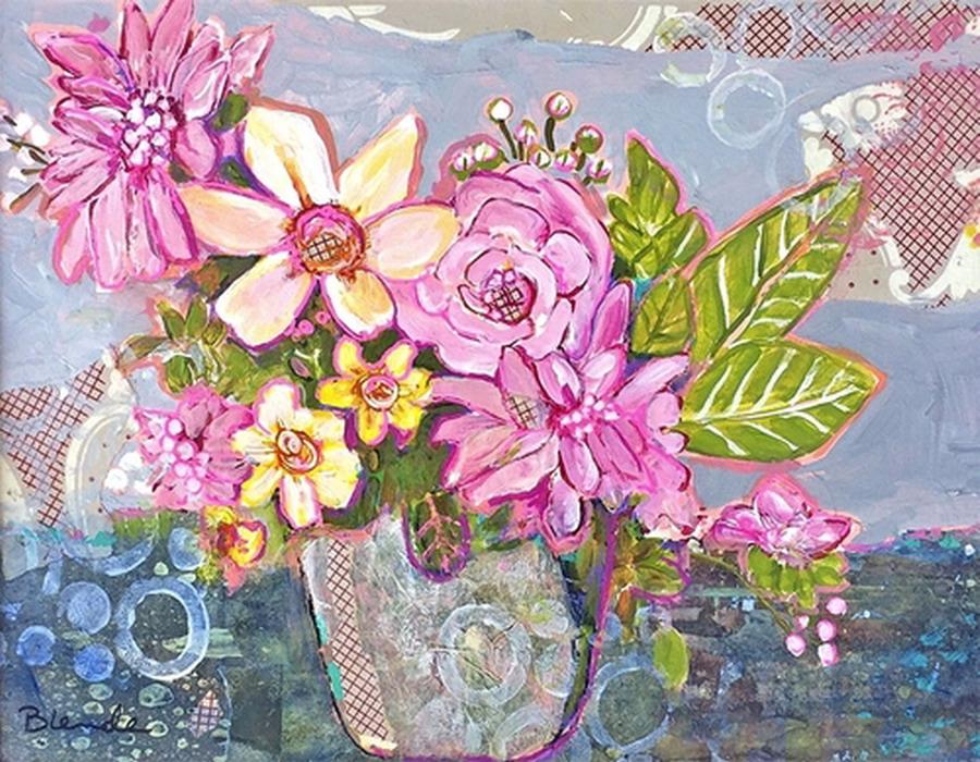 Cuadros Modernos Pinturas Y Dibujos Flores De Tonos